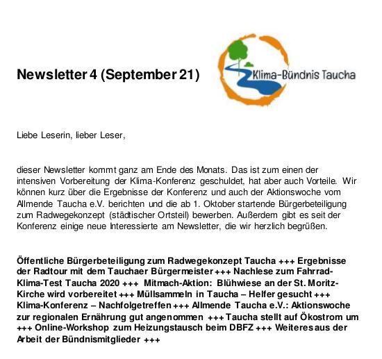 Newsletter Nr. 4 - Vorschau