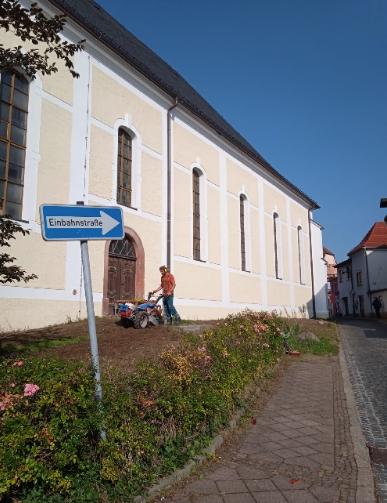 Blühwiese an der St. Moritz-Kirche